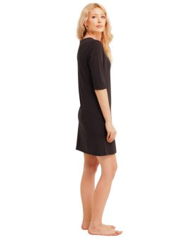 Madison 3/4 Sleeve Dress - Charcoal