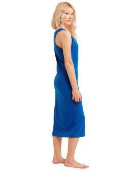 Madison Sleeveless Midi Slip - French Blue
