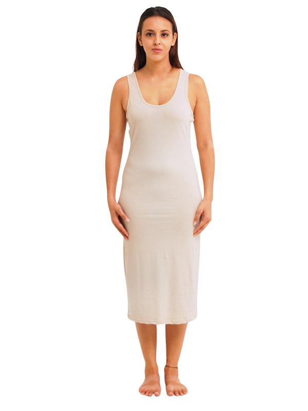 fca4fd7a8455f Madison Sleeveless Midi Slip - Nude - Queen Of Everything