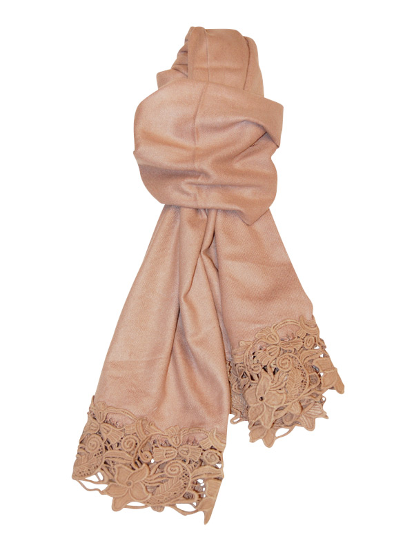 Camel Lace Scarf
