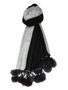 Black White Scarf