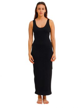 Madison Sleeveless Midi Slip - Black