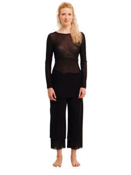 Rosie Black Net 3/4 Length Pant
