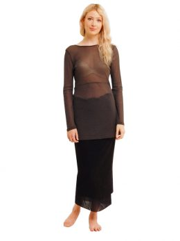 2 LAYER NET SKIRT BLACK