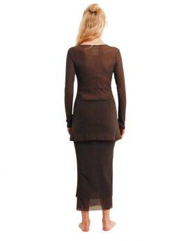 Rosie Granite Net Skirt