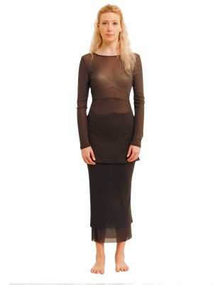 GRANITE 2 LAYER NET ROSIE SKIRT FRONT