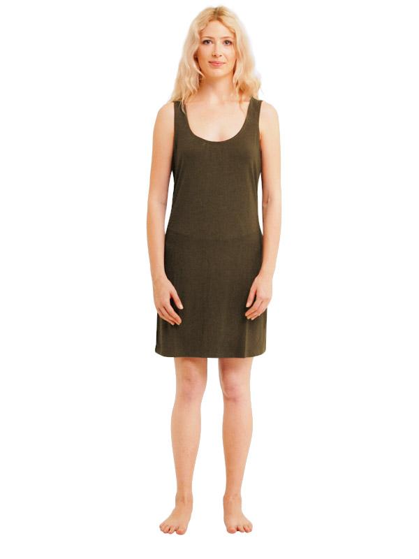 Madison Sleeveless Dress - Khaki