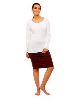 Madison Khaki Tube Skirt
