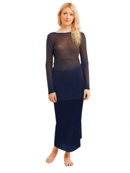 Rosie Navy Net Skirt