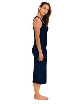 Madison Sleeveless Midi Slip - Navy
