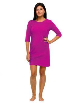 Madison 3/4 Sleeve Dress - Purple