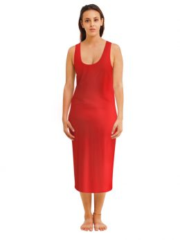 Madison Sleeveless Midi Slip - Red