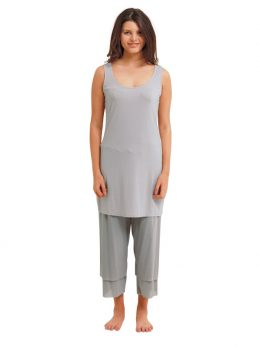 Rosie Silver Net 3/4 Length Pant