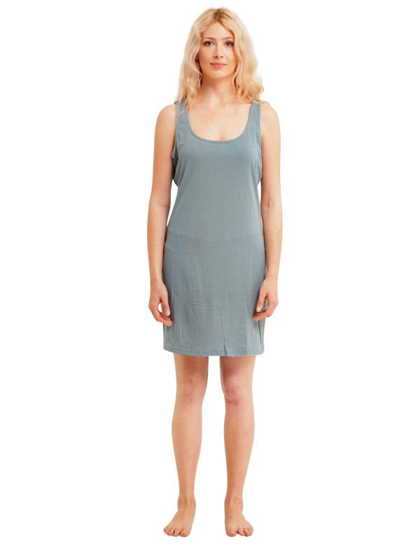 Madison Sleeveless Dress - Smoke Blue