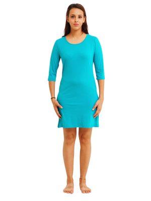 3/4 Sleeve Turquoise Slip