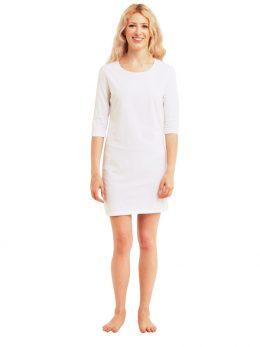 Madison 3/4 Sleeve Dress - White