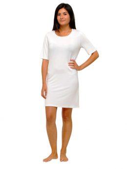 Madison Half Sleeve Dress - White