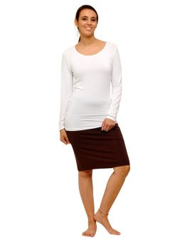 Madison Long Sleeve Top 220GSM - White