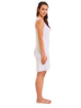 Madison Sleeveless Dress - White
