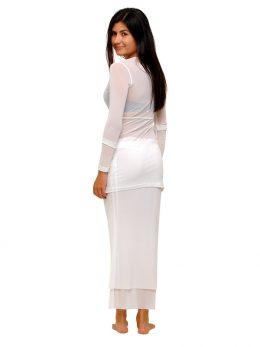 Rosie Net Long Sleeve Top - White