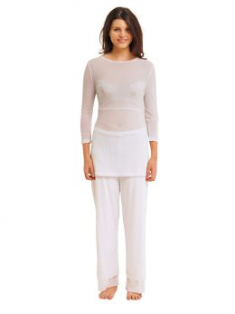 Rosie White Net Pant Full Length
