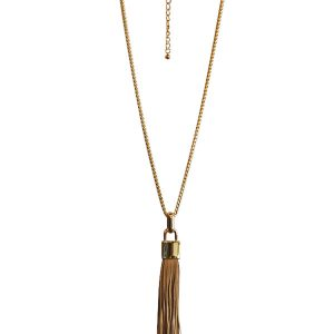 chain tassel tan