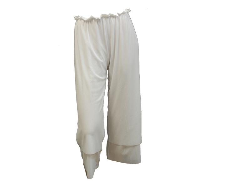 White Rosie Net 3/4 Length Pant