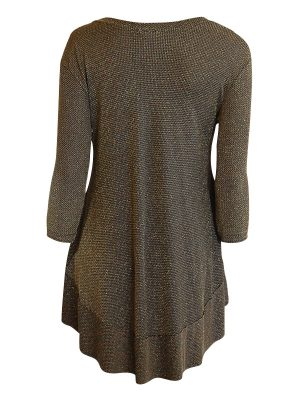 Isabella Tunic 3/4 Sleeve - Gold Lurex