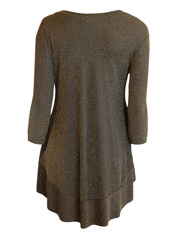Isabella Tunic 3/4 Sleeve – Gold Lurex