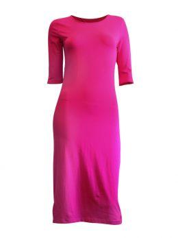 Madison 3/4 Sleeve Midi - Hot Pink