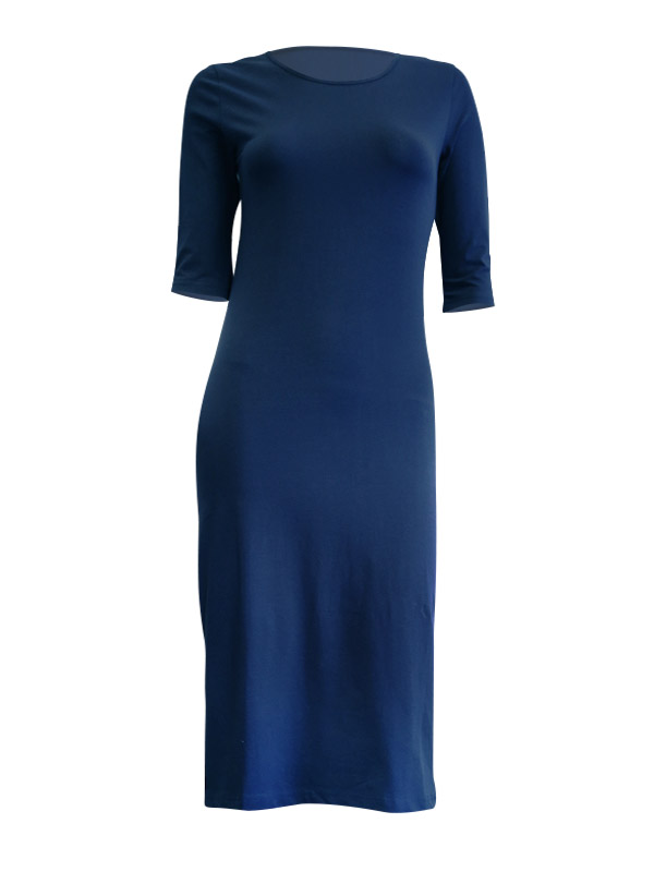 cf09abfd15180 Madison 3/4 Sleeve Midi - Ink - Queen Of Everything