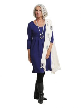 Sally 3/4 Sleeve Dress - French Blue