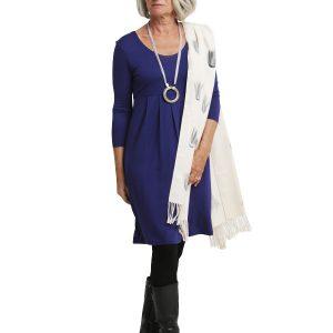 Sally 3/4 Sleeve Dress - French Blue
