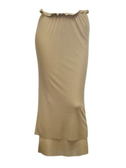 Rosie Stone Net Double Layer Skirt