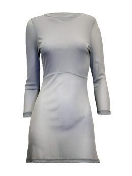 Rosie Net 3/4 Sleeve Top - Silver