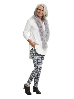Calista Drop Crutch Pant - Grey Ink