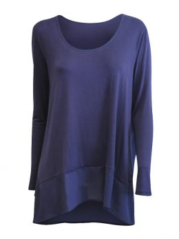 Kate Long Sleeve Tunic - Navy Panels