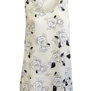 Kate Tank Tunic - White Rose