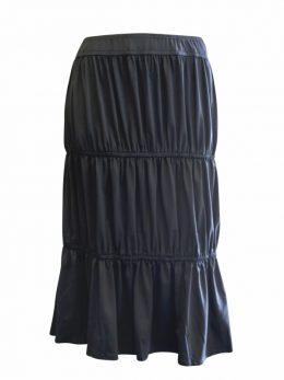 Kimberley Skirt - Tiered Black Skirt