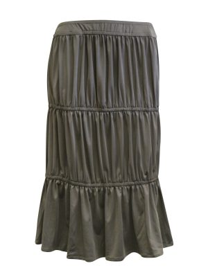 Kimberley Skirt - Tiered Charcoal Skirt