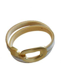 White Matt Buckle bracelet.