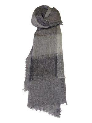 Wool Check Grey Scarf