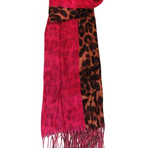 Hot Pink Animal Print Scarf