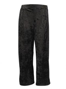 Lucinda Velvet Pants - Black Crushed Velvet