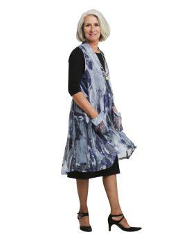 Poppy Sleeveless Dress - Blue Streak