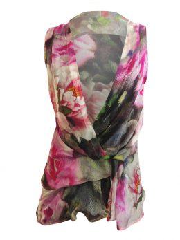 Nicola Short Sleeveless Tunic - Digital Rose
