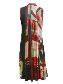 Poppy Sleeveless Dress - Red Grid