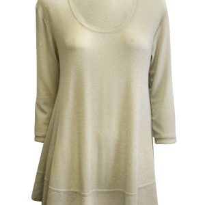 Isabella Tunic 3/4 Sleeve - Sand Metallic