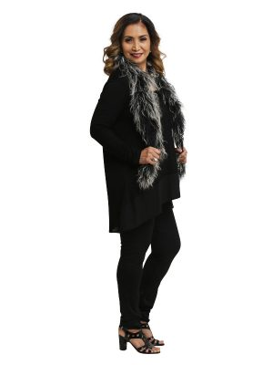 Kate Long Sleeve Tunic - Black Panels