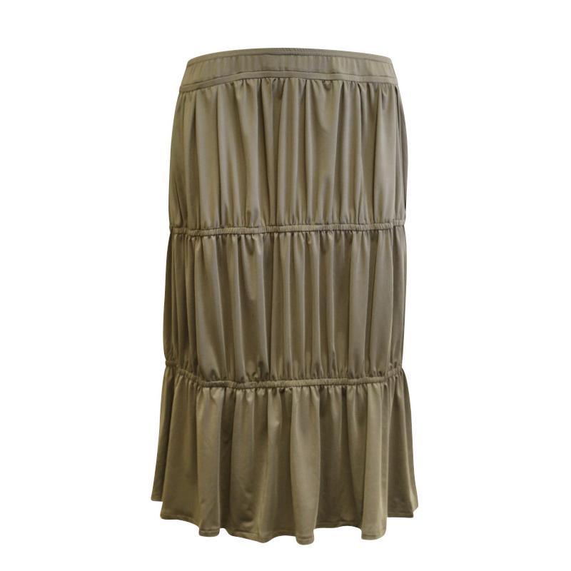 Kimberley Skirt - Tiered Charcoal Skirt